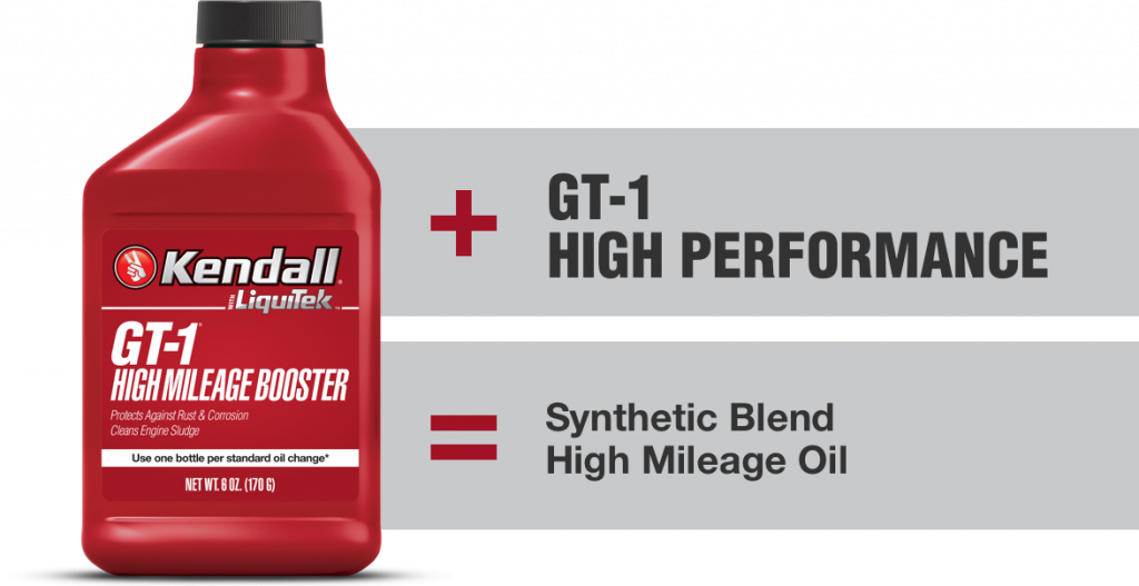 GT-1 High Performance Syntethic Blend High Mileage Oil